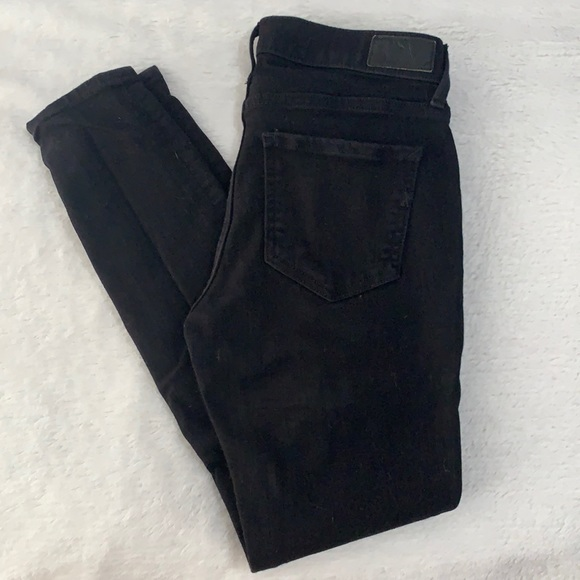 Express black skinny jeans